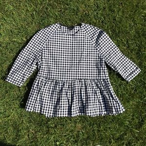 Gingham peplum top by victoria beckham for Target